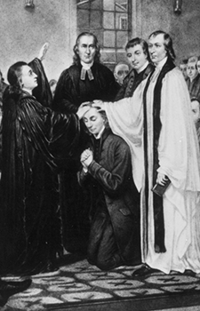 Closeup of the Ordination of Bishop Asbury